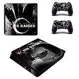 WANGPENG Shadow of The Tomb Raider Ps4 Slim Sticker Playstation 4 Skin Sticker Calcomanía para Playstation 4 Ps4 Slim Console & Controller Skin