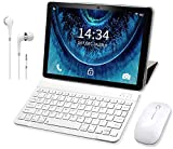 Tablette Tactile 10 Pouces 4G WiFi Android 9.0 Tablettes PC Pas Cher avec 3 Go de RAM et 32 Go/128Go ROM 8500mAH 8MP HD Caméra Quad Core Tablette Portable Pas Cher 10' 4G Dual SIM/GPS S60 Plus(Noir)