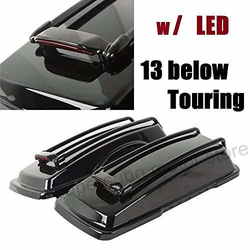 Motorcycle For Harley SaddleBag Lids With Top Rail led light touring ultra street electra glide roadking 94-13