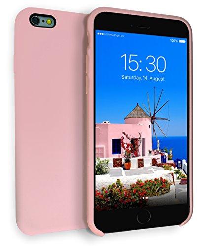 MyGadget Soft Touch Case per Apple iPhone 6 Plus / 6s Plus - Custodia Rigida – Cover Silicone Morbido Resistente - Cassa Protettiva Antiurto - Rosa