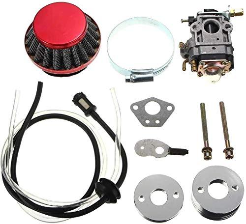 FHSF Reemplazar el carburador del Motor Parte for 43cc 49cc Bici del Bolsillo de Filtro Vespa ATV Moto carburador línea de Aire Kit Profesional de Combustible Universal Carb Kit carburador 1012