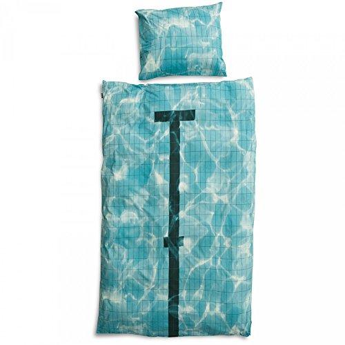 Snurk Dreaming Copripiumino, Percalle, Bianco con Stampa Piazzata, Singolo, 220x140x0.4 cm