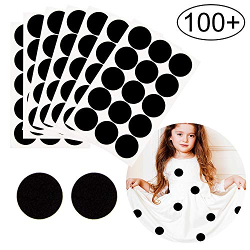 Iceyyyy 100+ Pieces Black Adhesive Felt Circles, Black Self-Adhesive Felt Sticker for Halloween DIY Projects, Professional Craft Finishing (1.5 Inch)