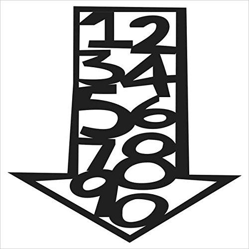 The Crafter 's Workshop sjabloon 4 x 4 inch cijfers in pijl bits, zwart/wit