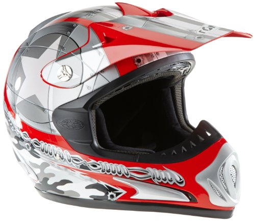 Römer Starcross Motorradhelm Cross/MX, Rot/Silber, Größe XS