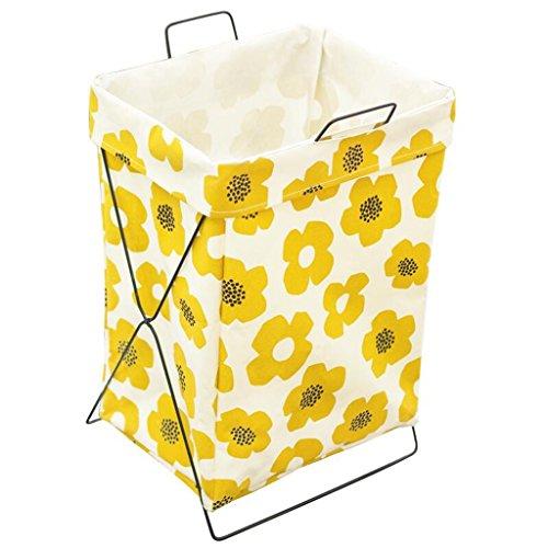Cesto de ropa amarillo Plegable con esqueleto metálico