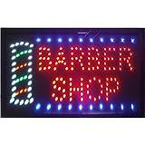 CHENXI Hair Cut Barber Shop Store Neon Segni 48X25 cm Indoor Ultra Luminoso Lampeggiante Led Beauty Display Segno Barbiere Store Led (48 X 25 cm, Barbiere shop-01)