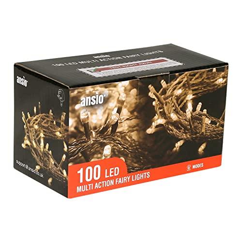ANSIO® Christmas Lights 100 LED 10m/32ft Christmas...