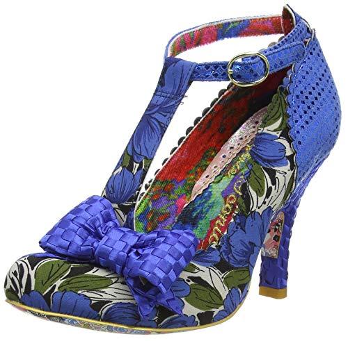 Irregular Choice Damen Bloxy Pumps, Blau (Blue Floral Ag), 40 EU