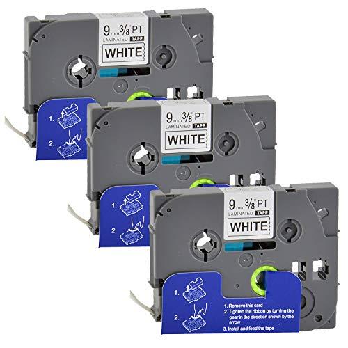 3 Bubprint Schriftbänder kompatibel für Brother TZE-221 TZE 221 für P-Touch 1280 2430PC 2730VP 3600 9500PC 9700PC D400VP D600VP H100LB H105 P700 P750W