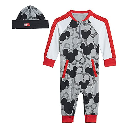 adidas GM6935 INF DY MM One Sport Set Unisex-Baby mgh Solid Grey/Black/White/Vivid Red 3-6M