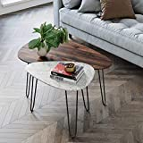 Nathan James Bodhi Mid-Century Nesting Coffee Table Set of 2, Stacking Side or...