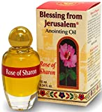 Holy Land Market Blessing from Jerusalem Anointing Oil - 10ml (.34 fl. oz.) (Rose of Sharon)