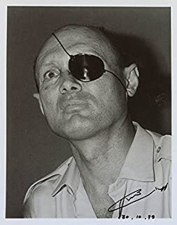 Lt. General Moshe Dayan - Photograph Signed 10/30/1970