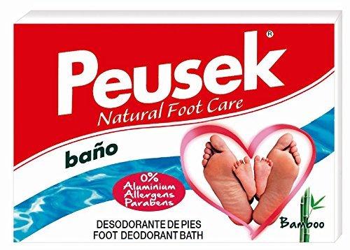 Peusek Baño, Polvo Desodorante y Antitranspirante para pies, 2 Sobres de 10 g
