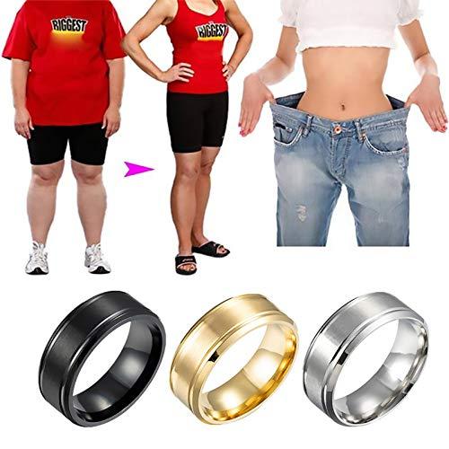 LONG-D 2 Stücke Magnetische Neue Magnetische Gewichtsverlust Ring Abnehmen Werkzeuge Fitness Reduzieren Gewicht Ring String Stimulierung Akupunkturpunkte Gallenstein,Schwarz,16mm