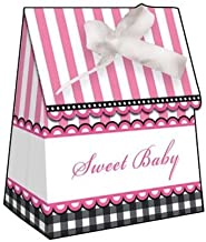 12-Count Party Treat Boxes, Sweet Baby Feet Pink