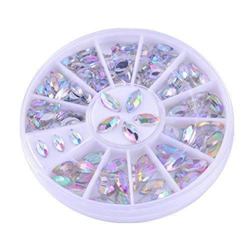 Frcolor Nail Art Décor Accessoires, Cristal AB Strass Premium Manucure Nail Art Décorations AB Couleur
