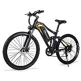 Sheng milo - Bicicleta eléctrica M60 7 velocidades 500 W Mountain Bike es unisex, batería de litio de 15 Ah, doble amortiguación, marco de aleación de aluminio.