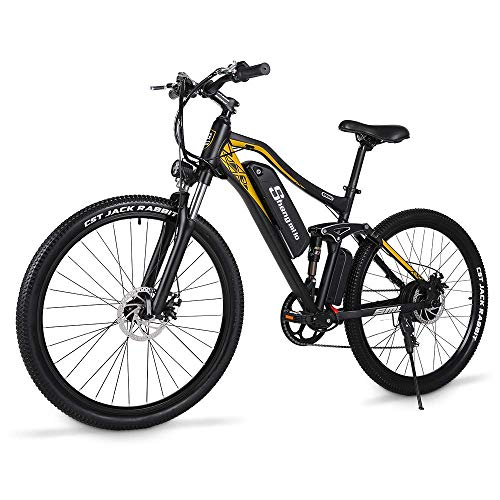 Bicicleta eléctrica de montaña 7 velocidades 500W ATV moto de nieve bicicleta...