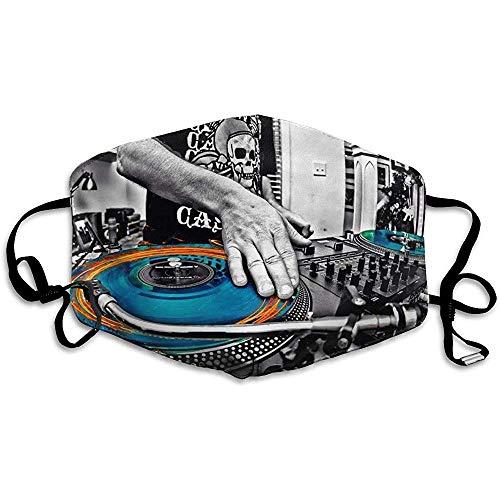 Verstelbare Mond Maskers voor stof, Unisex DJ Muziek Mengt De Track HD Gezichtsmasker Vrouwen