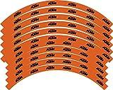 Kit de gráficos Adhesivos compatibles para Llantas compatibles con KTM SX SXF EXC 18' 19' 21' Todos los años (02) Lucido