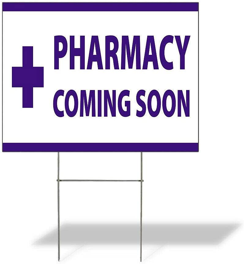 Size Super sale 12inx18in Two Side Print Sign Pharmacy Weatherproof Be super welcome Yard Co