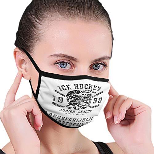 Na Wiederverwendbare Modemasken Mundmaske Platte Serife Schriftart handgemachte Eishockey Club Emblem schwarzer Druck weißer Hintergrund