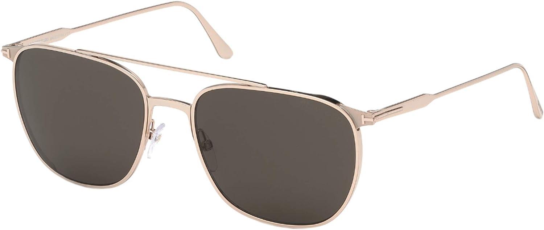 Sunglasses Tom Ford FT 0692 Kip 28A Shiny Rose Gold/Smoke Lenses
