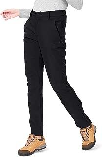 Womens Waterproof Softshell Fleece Lined Pants Warm Windproof Ski Snow Insulated Hiking Hunting Trousers