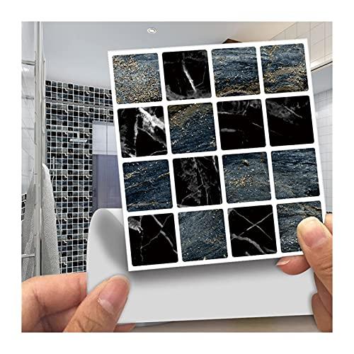 QOXEFPJZ Cenefa Adhesiva Cocina 30 unids 10x10cm Mosaico Retro DIY Pegatina de Pared Impermeable Afección autoadhesiva Cocina Cuarto de baño Azulejos Fácil de Limpiar decoración del hogar