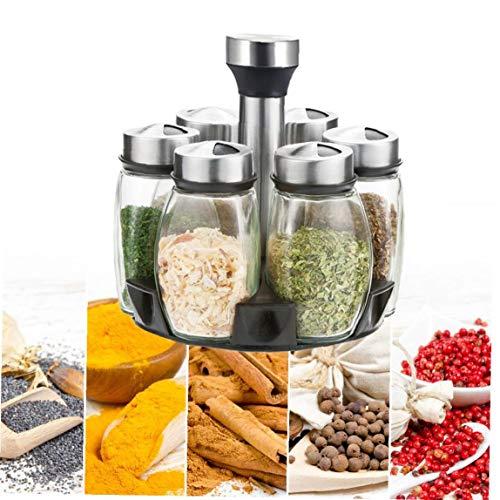 Revolving Spice Rack Organizer 360 ° di rotazione di filatura controsoffitto Rack Organizzatore per la cucina, zucchero, olio Spezie (Spezie non incluso) Necessità quotidiane
