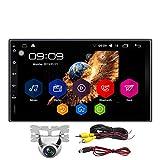KX09CA Android 6.0 Car Stereo Quad Core 2 Din 7 pollici HD Touch Screen Autoradio AM/FM/RDS 1.2 GHz 1 GB RAM 16 GB ROM Vista posteriore Telecamera Testa BT Controllo del volante Navigazione GPS