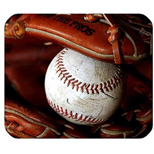 Baseball rechthoek anti-slip rubber muismat 30 * 25 * 0,3 cm muismat/muismat ontworpen voor thuis en op kantoor geschenken hoesje