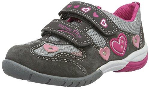 Superfit Sport3 Mädchen Sneaker, Grau (Stone Kombi 06), 31 EU
