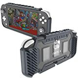 KIWIHOME Grip Case for Nintendo Switch Lite, Durable Anti-Slip Shockproof Protective Hard Case for Nintendo Switch Lite Console 2019 with Comfortable Grip & Game Card Slots (Gray)