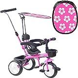 boppi Triciclo 4 en 1 para niños de 9 a 36 Meses - Rosa