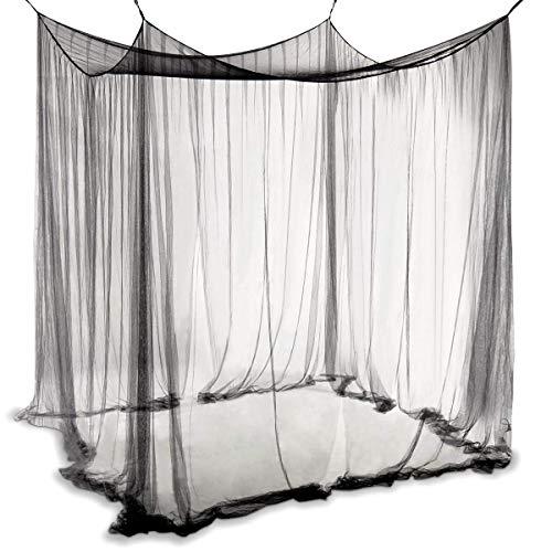 OrangeClub Moskitonetz Einzel oder Doppelbetten Mückennetz für Zuhause Camping (Schwarz)