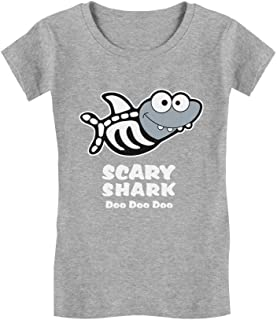 Scary Shark Doo doo doo Song Funny Halloween Infant Girls' Fitted T-Shirt