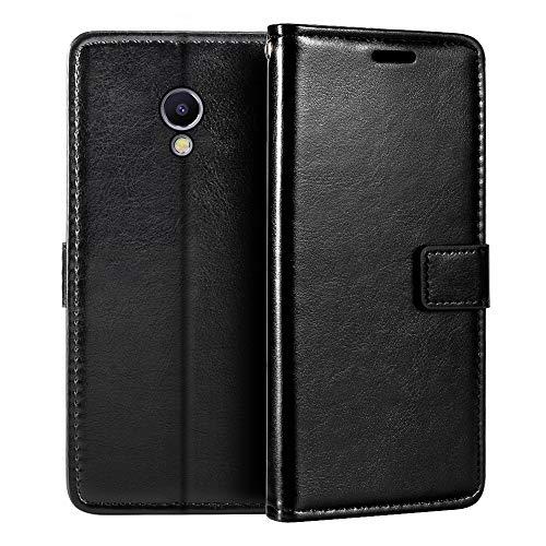Meizu M5 Note - Funda tipo cartera para Meizu M5 Note (piel sintética, cierre magnético, tarjetero, función atril)