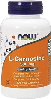 Now Supplements, L-Carnosine (Beta-Alanyl-L-Histidine) 500 mg, 100 Veg Capsules