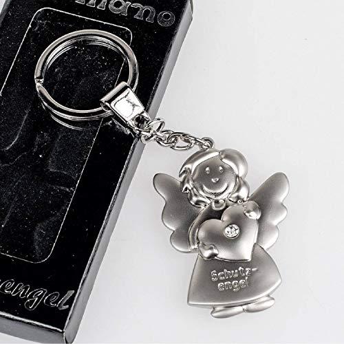 Schlüsselanhänger ~ Schutzengel mit Herz ~ Engel Anhänger für Auto Schlüssel