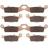 Brake Pads for Yamaha Grizzly YFM550 550 2009-2014/ YFM700 700 2008-2016 / 700 Grizzly YFM700 LTD 2016-2019,4 set Front&Rear Severe Duty Replacement Brake Pads