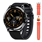 Blackview Smart Watch for Men, Full Touch Screen Fitness Trackers with Heart Rate Sleep Monitor, Fitness Watch with 5ATM Waterproof Pedometer Calorie Stopwatch, Sport Smartwatch for iOS Android Phones