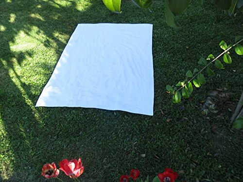 Algodonea Toalla Manta 150x200cm, 100% algodón, 460gr/m2, Fabricada en Portugal. (Blanco)