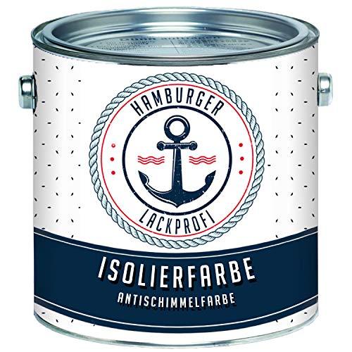 Isolierfarbe matt Weiß Antischimmelfarbe Innen unter Dispersionsfarbe Wandfarbe Sperrgrund Nikotinfarbe Deckanstrich Nikotinsperre // Hamburger Lack-Profi (1 L)