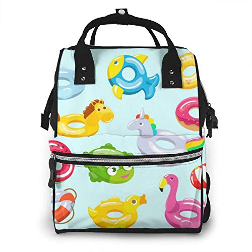 UUwant Sac à Dos à Couches pour Maman Large Capacity Diaper Backpack Travel Manager Baby Care Replacement Bag Nappy Bags Mummy BackpackInflatable Swimming Ring and Life Vector Image