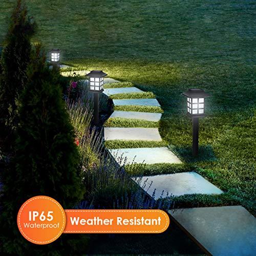 YUNLIGHTS Upgraded Solar Stake Lights 8PCS, Garden Solar Lights Outdoor Pathway Lights Waterproof, 15