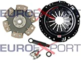 Competition Clutch Disc and Pressure Plate Kit for Honda H22 Prelude 2.0L 2.1L Ceramic 6 Puck Rigid/Solid Stage 4 8014-0620