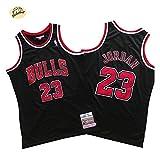 Camiseta de Baloncesto Michael Jordan Chicago Bulls, Camiseta Retro Bordado clásico n. °...